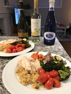 White wine lemon baked tilapia rainbow vegetables food vino after st patricks day weekend we found ourselves in desperate need of a very healthy dinner this recipe is easy effortless and satisfying forumfinder Images